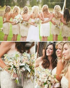 Rustic Country Wedding Ideas: Casual Summer bridesmaids attire love those dresses