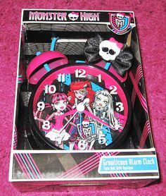 Monster High Alarm Clock great for back-to-school and room  decor