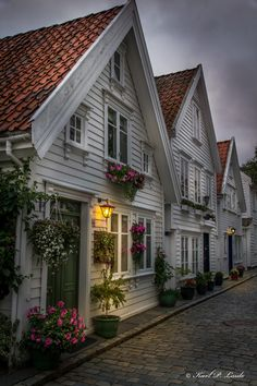 Stavanger - Houses in the old part of Stavanger, Norway