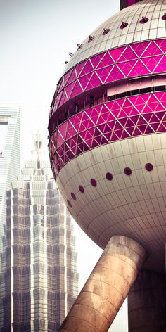 Shanghai- Oriental Pearl Tower Jiang Huan Chen, Lin Benlin, and Zhang Xiulin Visit Shanghai, Shanghai City, Beijing, Chinese Architecture, Amazing Architecture, Art And Architecture, Wall Climbing Plants, Asian House, A Level Art