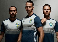 Sweden EURO 2016 adidas Away Kit
