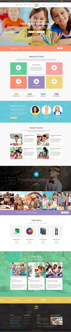 ESTUT is Premium Responsive WordPress Theme for Education #elearning Online #Course #website. Download Now