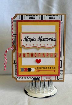 Autograph Book   Simple Stories Say Cheese Collection* Need to make one of these
