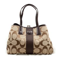 Coach Signature Framed Carryall Tote Handbag! (MAYBE SANTA CLAUSE WILL BE GOOD TO ME THIS YEAR!) I WANT THIS SO BAD!(: