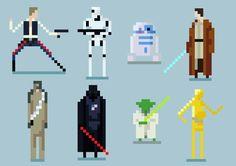 8-bit art Star Wars Characters #starwars #8bit #jedi