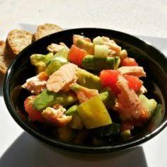 Salată cu somon și avocado (de la 10 luni)