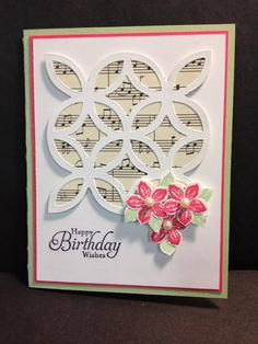 A Petite Petals Birthday Card Stampin' Up! Rubber Stamping Handmade Cards