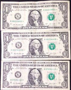 Uncirculated Mint very rare San Francisco 2013 STAR NOTE $2 DOLLAR BILLS