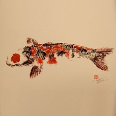 Traditional Japanese Calligraphy    Gyotaku's Dwight Hwang taught himself traditional Japanese fish printing—used by fishermen in place of taxidermy to memorialize the fish they've caught—while living in Tokyo. These prints are both original and reproductions of rice paper rubbings and—the nice catch is—most are made from fish he caught himself.
