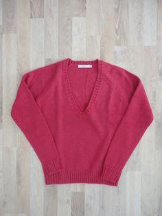 Sweater de lana bordo #sfera #españa #PocoUso #ModaSustentable. Compra esta prenda en www.saveweb.com.ar!
