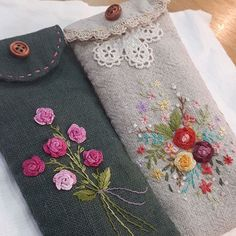 Wonderful Ribbon Embroidery Flowers by Hand Ideas. Enchanting Ribbon Embroidery Flowers by Hand Ideas. Embroidery Purse, Silk Ribbon Embroidery, Hand Embroidery Patterns, Embroidery Thread, Cross Stitch Embroidery, Embroidery Designs, Creative Embroidery, Simple Embroidery, Crochet Projects
