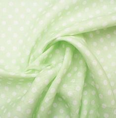 Light Green White Spotted Linen