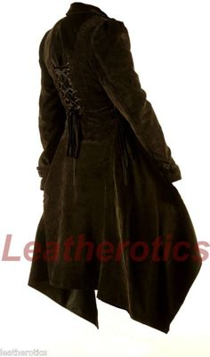 Ladies Gothic Jacket Vintage Victorian Flock