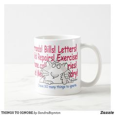 Sandra Boynton: products on Zazzle Cat Coffee Mug, White Coffee Mugs, Funny Mugs, Funny Jokes, Sandra Boynton, Fun Arts And Crafts, Personalized Coffee Mugs, Candy Jars, Custom Mugs