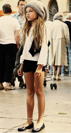 Re-pinning a small childs fashion! I love the outfit. Thylane Blondeau- Of the controversial Cadeaux Editorial: trendland.net/... She is Gorgeous!!