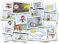 Weather flash cards- text in English but pics are cute. Make your own french cards. French Teacher, Teaching French, Teaching Spanish, Teaching English, French Classroom, Spanish Classroom, French Lessons, English Lessons, Teaching Tools