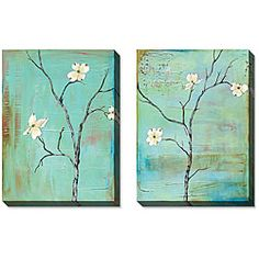 Shop for Gallery Direct Gunn Dogwood on Turquoise Gallery Wrapped Art Set. Get free delivery On EVERYTHING* Overstock - Your Online Art Gallery Store! Abstract Canvas Art, Oil Painting On Canvas, Canvas Wall Art, Canvas Paintings, Office Art, Online Art Gallery, Cool Art, Diys, Hand Painted
