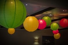 Beautiful coloured lanterns brings your reception to life