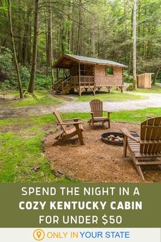 If you're looking to try glamping or seek a vacation on a budget, enjoy a cozy weekend at this amenity-filled cabin in Kentucky. It's charming, romantic, and affordable. You'll enjoy electricity, beautiful scenery, a nearby creek, hiking trails, and a private swimming hole! It's perfect for Valentine's day or an anniversary escape. Vacation Places, Dream Vacations, Vacation Spots, Vacation Ideas, Kentucky Attractions, Kentucky Vacation, Romantic Camping, Red River Gorge, Getaway Cabins