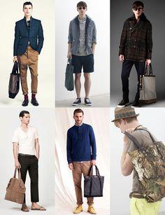 Men's Tote bags look book