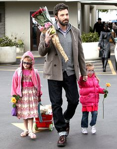 "Famous Celeb Dads and Daughters: Ben, Violet and Seraphina Affleck  ""Family is a wonderful thing, but it doesn't mean you can't do other stuff in your life. In fact, having a family makes whatever other thing you have that much richer."""