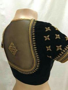 Elegant designer blouses with saree online Read more about Black Blouse Designs, Simple Blouse Designs, Stylish Blouse Design, Blouse Neck Designs, Blouse Styles, Pattu Saree Blouse Designs, Saree Blouse Patterns, Pattern Blouses For Sarees, Black Saree Blouse