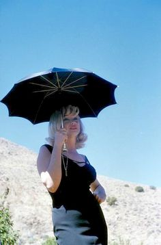 "Marilyn Monroe during filming of ""The Misfits"", photo by Inge Morath, Nevada desert, 1960   by skorver1"