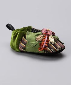 Take a look at this Green Abigale Silk Slipper - Kids by Goody Goody on #zulily today!