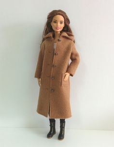 Brown Fleece Coat for Silkstone/Model Muse/ Made by SKSungDesigns