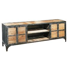 Steel and Wood Media Center at HudsonGoods.com