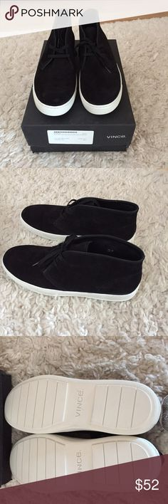 Vince Men's black sneakers Size 11. Brand new! Brand new never worn Vince men's sneakers size 11. Black with white bottom. Box included!  Original price $150 Vince Shoes Sneakers