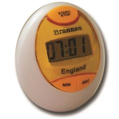 Easy to read timer moulded in fun,egg design. Count up and count down. Supplied packaged in box with instruction sheet and battery.