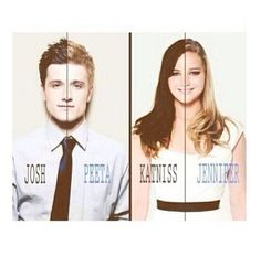 Peeta Mellark( Josh Hutcherson) Katniss Everdeen(Jennifer Lawrence)