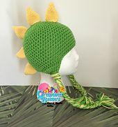 Ravelry: #Dragon #Spikes #Mohawk #Beanie #crochet #pattern by Gramma Beans #madmadmakers #handmade
