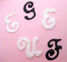Monograms for Cookies!