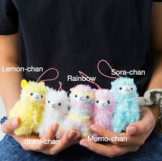 Rainbow Alpacasso Plushies (Mini Strap)