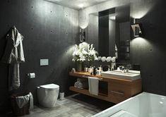 black bathroom - Галерея 3ddd.ru