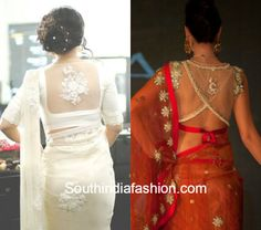 Sheer Back Blouses