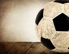 Vintage Soccer Ball on Wood  Half View Photo Print,Decorating Ideas, Wall Decor, Wall Art,  Kids Room, Nursery Ideas, Gift Ideas, on Etsy, $20.00