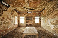 Intricate Mud Paintings on School Walls in India by Yusuke Asai   Spoon & Tamago