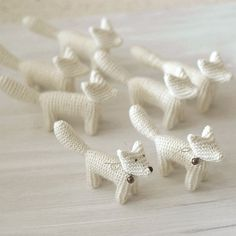 white foxes :) #loveknitting #knittedtoy #whitenursery #whiteinterior #babyroom #homedecor #kidsroom #babyshowergift #handmadetoy #waldorf #etsy #etsylithuania #woodland #makersandmums #kids