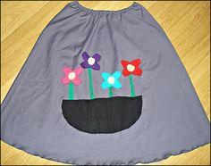 χειροποίητη φούστα 'λουλούδια'
