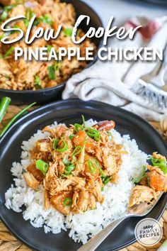 This Crock Pot Pineapple Chicken is a quick and easy dinner that is loaded with flavor! Tender chicken breast is slow cooked in the delicious Asian inspired flavors of teriyaki sauce and pineapple. Rib Recipes, Slow Cooker Recipes, Cooking Recipes, Carrot Recipes, Lentil Recipes, Turkey Recipes, Pasta Recipes, Crockpot Recipes, Recipies