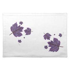 Colorful Purple Leaves Place Mat