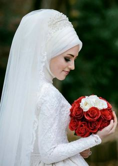 Image result for hijab classic european wedding dress
