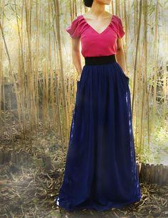 Falda larga para boda Julie Arimoka