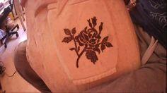 Выжигаем розу на панно. Burnt rose on the panel