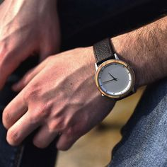 """Drevené hodinky Loihi """"Olive"""" Wooden Watch, Watches, Leather, Accessories, Jewelry, Wooden Clock, Jewlery, Wristwatches, Jewerly"""
