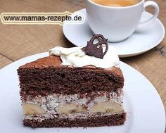 Rezept Bananen- Schoko- Sahnetorte auf Mamas Rezepte Homepage