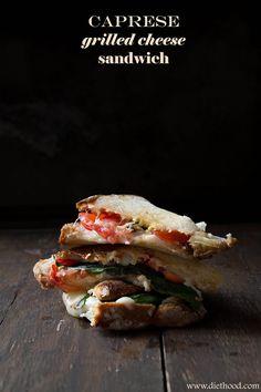 Caprese Grilled Cheese Sandwich | @Kat Ellis Petrovska | Diethood